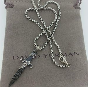 David Yurman Waves Dagger Amulet with Diamonds